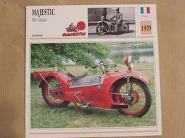 MAJESTIC 500 Chaise France 1929  Moto Fiche Descriptive Motocyclette Motos Motorcycle Moto Motocyclette - Fiches Illustrées