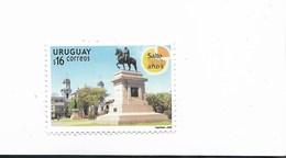 URUGUAY YEAR 2006 250TH ANNIVERSARY OF SALTO CITY SCULPTURE HORSE MONUMENT 1 VALUE MNH - Uruguay