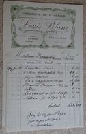Facture Ancienne - Pharmacie De 1 ère Classe - Louis Blanc - Argelliers (aude) - 1920 - France