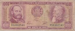 BILLETE DE PERU DE 1000 SOLES DE ORO DEL AÑO 1975 (BANKNOTE) - Peru