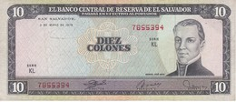 BILLETE DE EL SALVADOR DE 10 COLONES DEL AÑO 1979 DE CRISTOBAL COLON   (BANKNOTE) - Salvador