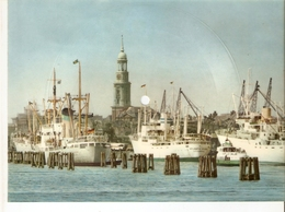 Old Musical 45rpm Record Postcard Schallbildkarte Hamburg Hafen Port Mit Siebzehn Scharfenberger Busch Foxtrot - Unclassified