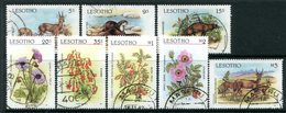 Lesotho 1987 Flora And Fauna Set Used (SG 766-773) - Lesotho (1966-...)