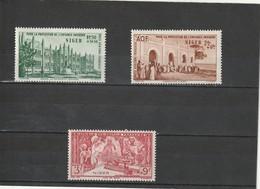 Niger  Neuf *  1942 Poste Aérienne  N° 6/8    Protection De L'enfance Indigène - Niger (1921-1944)