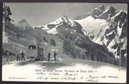 Gare De Caux - Bahnhof - Train à Vapeur - Dampflok - Bahn -1902 - VD Waadt