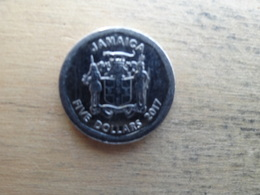 Jamaique  5 Dollars  2017  Km !!! - Jamaique