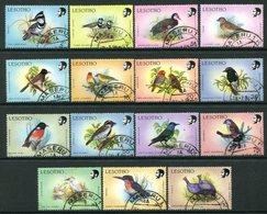 Lesotho 1988 Birds - No Printers Imprint - Set Used (SG 791-805) - Lesotho (1966-...)