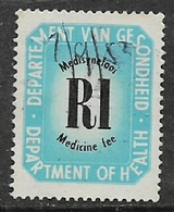 South Africa,   Dept Of Health, Medicine Fee, R1, M/s Used 7/9/82 - South Africa (1961-...)