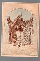 Corbeil / Afrique Noire)  Scène De La Vie Coloniale (offert Par F VICQ, Nouveautés, Corbeil ) (PPP17851) - Vieux Papiers