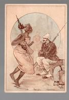 Corbeil / Afrique Noire)  Scène De La Vie Coloniale (offert Par F VICQ, Nouveautés, Corbeil ) (PPP17852) - Old Paper