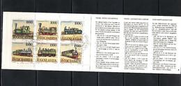 Yugoslavia / Jugoslawien 1992 Dampflokomotiven Michel MH / Booklet 5 Sauber Gestempelt / Fine Used - 1992-2003 Sozialistische Republik Jugoslawien