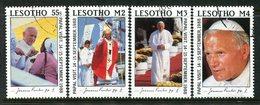Lesotho 1988 Visit Of Pope John Paul II Set Used (SG 819-822) - Lesotho (1966-...)