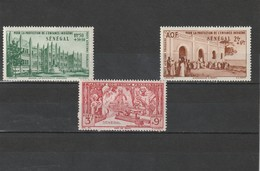 Sénégal  Neuf *  1942 Poste Aérienne  N° 18/20    Protection De L'enfance Indigène - Sénégal (1887-1944)