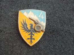 Scudetto Vintage Alpini E.I. 4° Rgt. Artiglieria Pesante Campale Anni '50-60 - Esercito