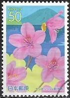 JAPAN (CHIBA PREFECTURE) 2004 Flowers Of Kanto - 50y - Yoshi Azalea And Lake Chuzenjiko FU - 1989-... Empereur Akihito (Ere Heisei)