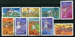 Lesotho 1988 75th Anniversary Of International Tennis Federation Set Used (SG 843-851) - Lesotho (1966-...)