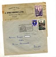 Lettre Flamme Lille Unesco - Marcophilie (Lettres)