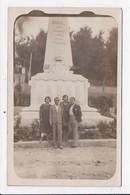 CARTE PHOTO 06 SOSPEL Personnages Devant Le Monument Aux Morts - Sospel