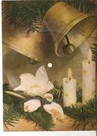 Old Musical 45rpm Record Singing Postcard Schallbildkarte Silent Night Merry Christmas & A Happy New Year - Vinyl Records