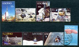 Lesotho 1989 20th Anniversary Of First Manned Moon Landing Set Used (SG 915-922) - Lesotho (1966-...)