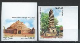 North Vietnam. Scott #  MNH Imperforate. Ancient Architectures. Joint Issue With India. 2018 - Joint Issues