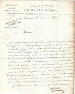 Empire: Lettre Du 17 Novembre 1812. On Y Trouve Samuel Hotman Secrétaire Du Maréchal SUCHET . - Documents Historiques