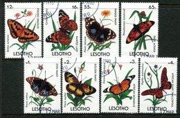 Lesotho 1990 Butterflies Set Used (SG 949-956) - Lesotho (1966-...)