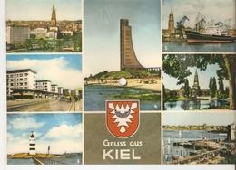 Old Musical 45rpm Record Postcard Schallbildkarte Unsere Marine Marsch Rich. Thiele KIEL Rathaus Holtenaur Strasse Hafen - Unclassified