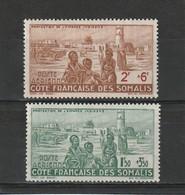 Côe Des Somalis Neuf *  1942  Poste Aérienne N° 8/9  Protection De L'enfance Indigène - Côte Française Des Somalis (1894-1967)