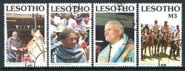 Lesotho 1990 Traditional Blankets Set Used (SG 971-974) - Lesotho (1966-...)