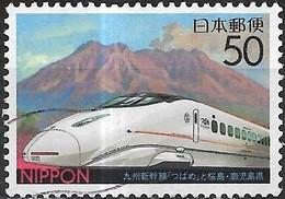 JAPAN (KAGOSHIMA PREFECTURE) 2004 Inauguration Kyushu-Shinkansen LineTsubame (high-speed Rail) - 50y - Multicoloured FU - 1989-... Empereur Akihito (Ere Heisei)