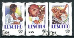 Lesotho 1990 UNICEF Child Survival Campaign Set Used (SG 981-983) - Lesotho (1966-...)