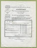 """THONNANCE-LES-JOINVILLE  (52) : """" TAXE SUR LES CHIENS """"  1875 - Documents Historiques"""