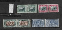 South Africa, 1938, Voortrekker 100th Anniversary Memorial Fund, Set Of 4 Pairs, MH * - Unused Stamps