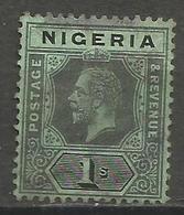 Nigeria - 1914 King George V 1s Black/green Used  SG 8c - Nigeria (...-1960)