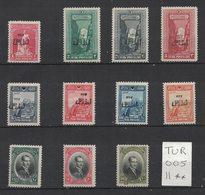 Turquie - Turkey - Yvert 709-719 Neufs SANS Charnière - Scott#648-658 MNH - 1921-... République