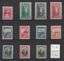 Turquie - Turkey - Yvert 709-719 Neufs SANS Charnière - Scott#648-658 MNH - 1921-... Republik