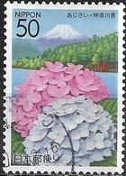 JAPAN (KANAGAWA PREFECTURE) 2004 Tourism - 50y - Hydrangea And Lake Ashinoko, Hakone FU - 1989-... Empereur Akihito (Ere Heisei)