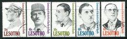 Lesotho 1991 Birth Centenary Of General Charles De Gaulle Set Used (SG 1036-1040) - Lesotho (1966-...)