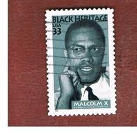 STATI UNITI (U.S.A.) - SG 3546  - 1999  BLACK HERITAGE: MALCOM X, BLACK LEADER - USED - Used Stamps