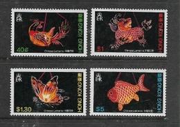 Hong Kong, EIIR, 1984, Chinese Lanterns, Set Of 4, MNH ** - Hong Kong (...-1997)