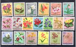 Ruanda-Urundi 1953, Fleurs Locales, 177 / 195*  Propre Charnière, Cote 16 €, - Végétaux