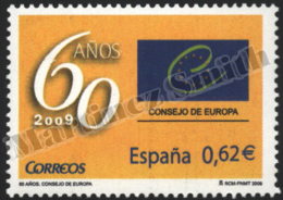 Spain - Espagne 2009 Yvert 4111, 60th Ann. Council Of Europe - MNH - 2001-10 Neufs