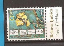 2002  100   BOSNIA MOSTAR  FLORA   KROATISCHE POST NEVER HINGED - Végétaux