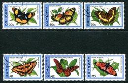Lesotho 1993 Butterflies Set Used (SG 1152-1157) - Lesotho (1966-...)