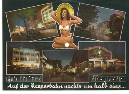 Old Musical 45rpm Record Sound Postcard Schallbildkarte A.d REEPERBAHN NACHTS UM HALB EINS I Love You Baby Anka Hassen - Unclassified