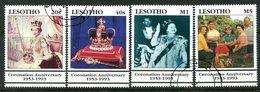 Lesotho 1993 40th Anniversary Of Coronation Set Used (SG 1159-1162) - Lesotho (1966-...)