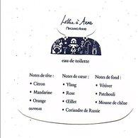 PUB PARFUM LETTRE A ANNA - Cartes Parfumées