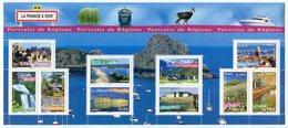 RC 12022 FRANCE BF N° 105 PORTRAITS DE REGIONS LA FRANCE A VIVRE N° 9 BLOC FEUILLET NEUF ** A LA FACIALE - Blocks & Kleinbögen