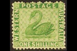 WESTERN AUSTRALIA  1864-79 1s Bright Green, P12½, SG 61, Very Fine Mint For More Images, Please Visit Http://www.sandafa - Australie